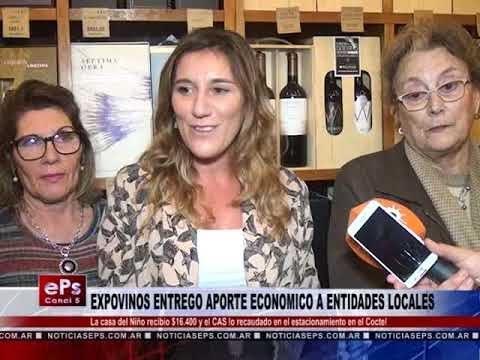 EXPOVINOS ENTREGO APORTE ECONOMICO A ENTIDADES LOCALES