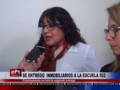 SE ENTREGO INMOBILIARIOS A LA ESCUELA 502