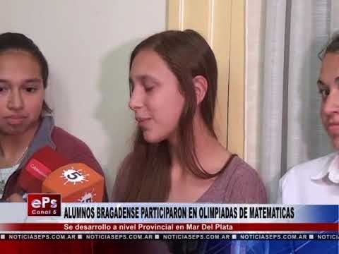 ALUMNOS BRAGADENSE PARTICIPARON EN OLIMPIADAS DE MATEMATICAS