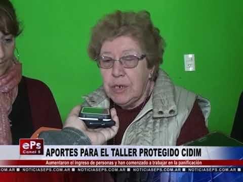 APORTES PARA EL TALLER PROTEGIDO CIDIM