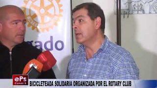 BICICLETEADA SOLIDARIA ORGANIZADA POR EL ROTARY CLUB