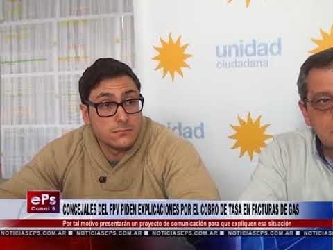 CONCEJALES DEL FPV PIDEN EXPLICACIONES POR EL COBRO DE TASA EN FACTURAS DE GAS