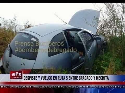 DESPISTE Y VUELCO EN RUTA 5 ENTRE BRAGADO Y MECHITA