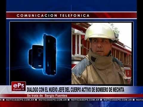 DIALOGO CON EL NUEVO JEFE DEL CUERPO ACTIVO DE BOMBERO DE MECHITA