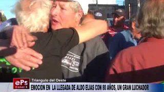 EMOCION EN LA LLEGADA DE ALDO ELIAS CON 80 AÑOS, UN GRAN LUCHADOR