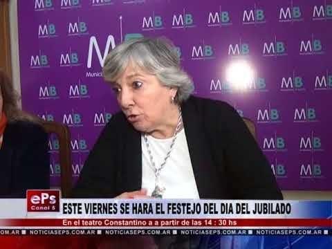 ESTE VIERNES SE HARA EL FESTEJO DEL DIA DEL JUBILADO