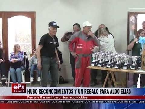 HUBO RECONOCIMIENTOS Y UN REGALO PARA ALDO ELIAS