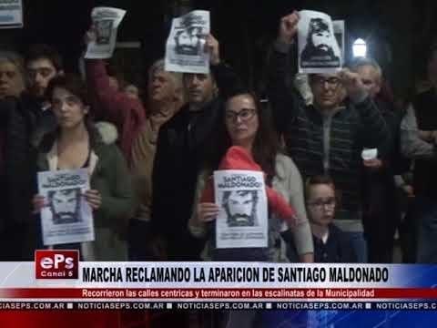 MARCHA RECLAMANDO LA APARICION DE SANTIAGO MALDONADO