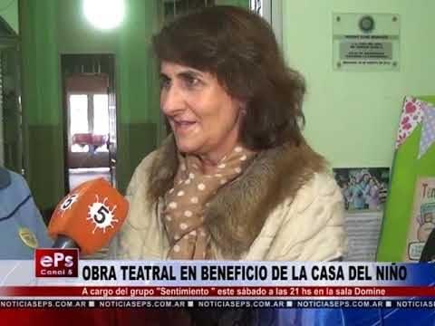 OBRA TEATRAL EN BENEFICIO DE LA CASA DEL NIÑO