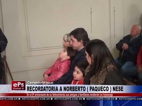 RECORDATORIO A NORBERTO PAQUECO NESE