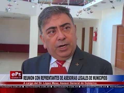 REUNION CON REPRENTANTES DE ASESORIAS LEGALES DE MUNICIPIOS