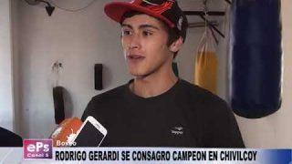 RODRIGO GERARDI SE CONSAGRO CAMPEON EN CHIVILCOY