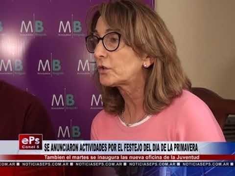 SE ANUNCIARON ACTIVIDADES POR EL FESTEJO DEL DIA DE LA PRIMAVERA