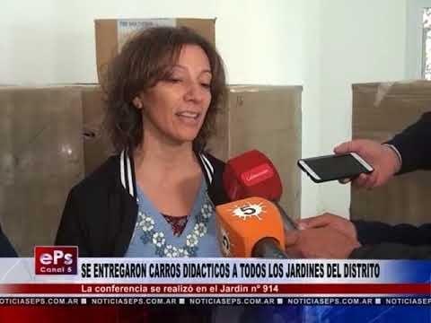 SE ENTREGARON CARROS DIDACTICOS A TODOS LOS JARDINES DEL DISTRITO