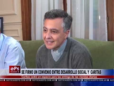 SE FIRMO UN CONVENIO ENTRE DESARROLLO SOCIAL Y CARITAS