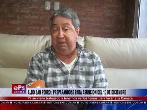 ALDO SAN PEDRO PREPARANDOSE PARA ASUNCION DEL 10 DE DICIEMBRE