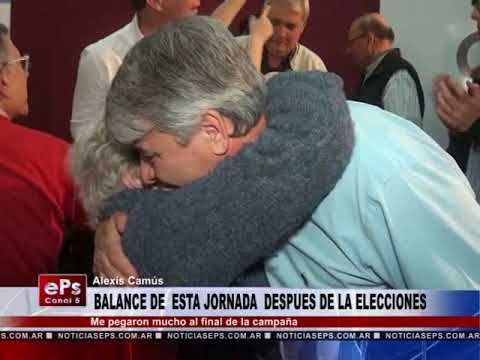 BALANCE DE ESTA JORNADA DESPUES DE LA ELECCIONES ALEXIS CAMUS