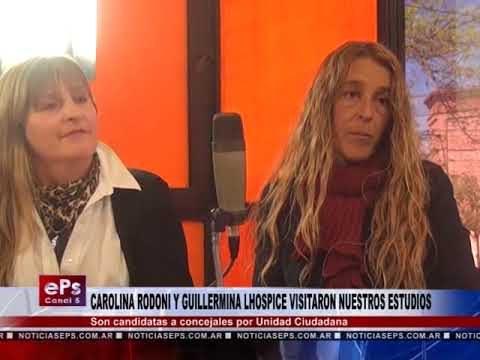 CAROLINA RODONI Y GUILLERMINA LHOSPICE VISITARON NUESTROS ESTUDIOS PARTE 2