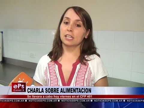 CHARLA SOBRE ALIMENTACION