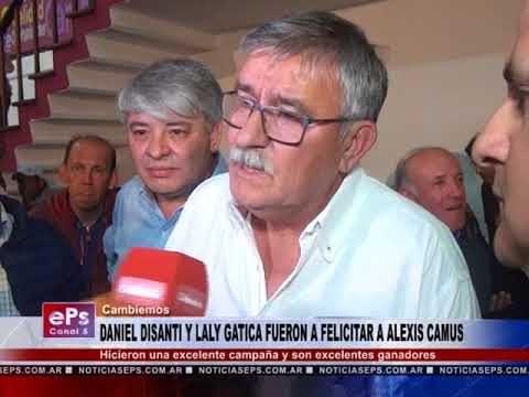 DANIEL DISANTI Y LALY GATICA FUERON A FELICITAR A ALEXIS CAMUS