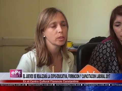 EL JUEVES SE REALIZARÁ LA EXPO EDUCATIVA, FORMACION Y CAPACITACION LABORAL 2017