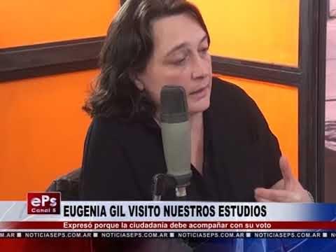 EUGENIA GIL VISITO NUESTROS ESTUDIOS