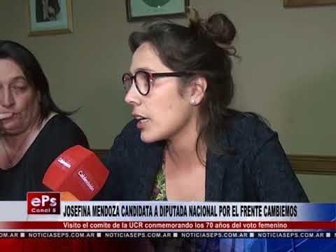 JOSEFINA MENDOZA CANDIDATA A DIPUTADA NACIONAL POR EL FRENTE CAMBIEMOS