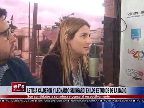 LETICIA CALDERON Y LEONARDO SILINGARDI EN LOS ESTUDIOS DE LA RADIO PARTE 2