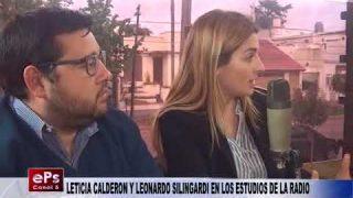 LETICIA CALDERON Y LEONARDO SILINGARDI EN LOS ESTUDIOS DE LA RADIO