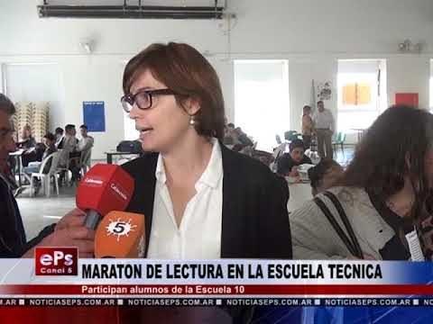 MARATON DE LECTURA EN LA ESCUELA TECNICA