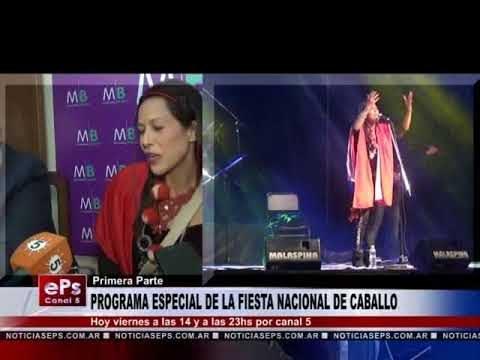 PROGRAMA ESPECIAL DE LA FIESTA NACIONAL DE CABALLO
