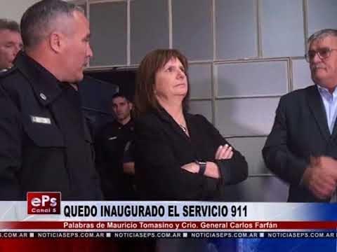 QUEDO INAUGURADO EL SERVICIO 911