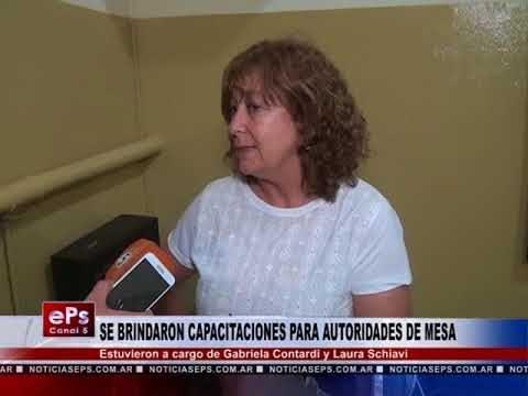 SE BRINDARON CAPACITACIONES PARA AUTORIDADES DE MESA