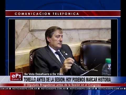 TORELLO ANTES DE LA SESION HOY PODEMOS MARCAR HISTORIA