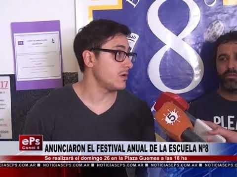 ANUNCIARON EL FESTIVAL ANUAL DE LA ESCUELA Nº8