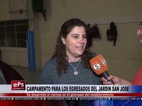 CAMPAMENTO PARA LOS EGRESADO DEL JARDIN SAN JOSE