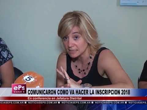 COMUNICARON COMO VA HACER LA INSCRIPCION 2018