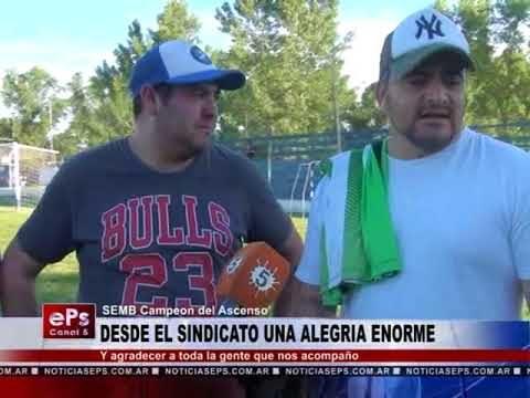 DESDE EL SINDICATO UNA ALEGRIA ENORME