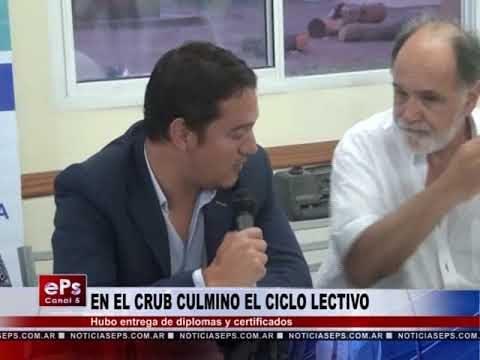 EN EL CRUB CULMINO EL CICLO LECTIVO