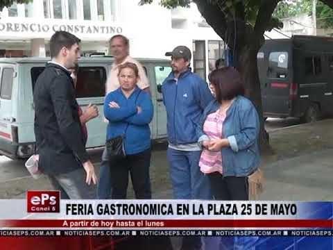 FERIA GASTRONOMICA EN LA PLAZA 25 DE MAYO