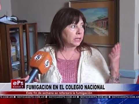 FUMIGACION EN EL COLEGIO NACIONAL