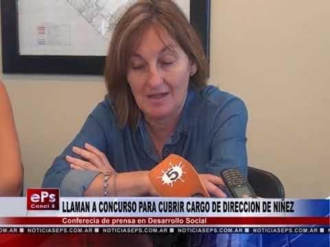 LLAMAN A CONCURSO PARA CUBRIR CARGO DE DIRECCION DE NIÑEZ
