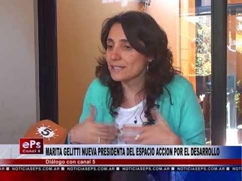 MARITA GELITTI NUEVA PRESIDENTA DEL ESPACIO ACCION POR EL DESARROLLO