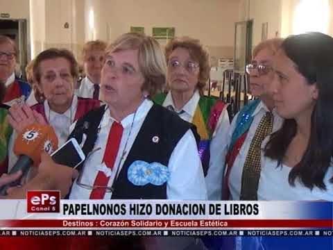 PAPELNONOS HIZO DONACION DE LIBROS