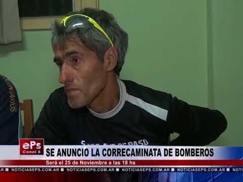 SE ANUNCIO LA CORRECAMINATA DE BOMBEROS