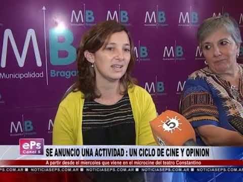 SE ANUNCIO UNA ACTIVIDAD UN CICLO DE CINE Y OPINION