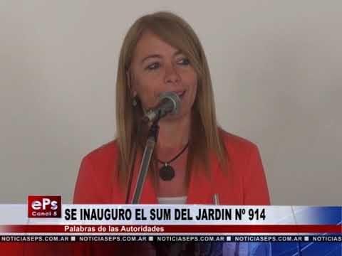 SE INAUGURO EL SUM DEL JARDIN Nº 914 PARTES 2