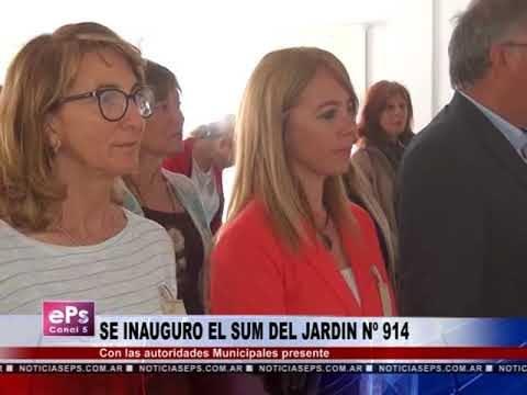SE INAUGURO EL SUM DEL JARDIN Nº 914
