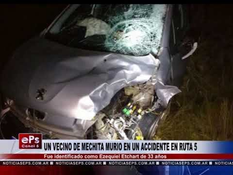 UN VECINO DE MECHITA MURIO EN UN ACCIDENTE EN RUTA 5