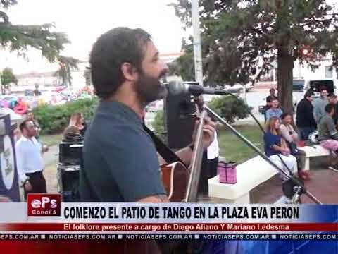COMENZO EL PATIO DE TANGO EN LA PLAZA EVA PERON
